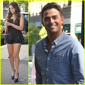 Jonathan Bennett & Bethany Mota Return To Hotel After 'DWTS' Cast Announcement in NYC