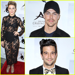 Julianne & Derek Hough Party with Pal Mark Ballas to Celebrate His Debut EP