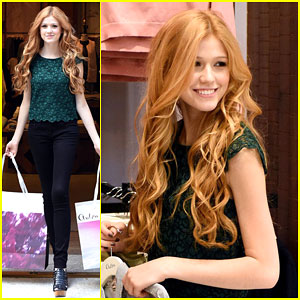 Katherine McNamara is All Smiles On a Solo Shopping Trip!