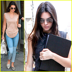 Kendall Jenner Takes Care of Business Ahead of Fashion Week in New York City