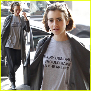 Lily Collins Calls Out Expensive Fashion Designers