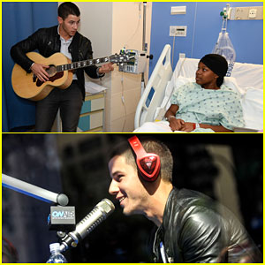Nick Jonas Plays Music for Patients at a Children's Hospital