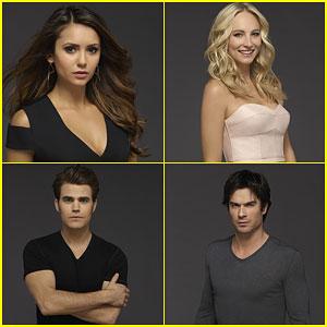 Nina Dobrev, Paul Wesley & Ian Somerhalder Go Dark for New 'Vampire Diaries' Cast Photos!