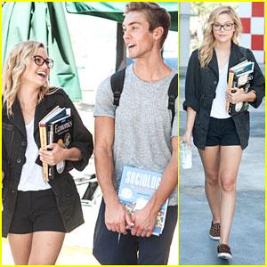 Olivia Holt & Austin North Are Study Buddies at Starbucks!