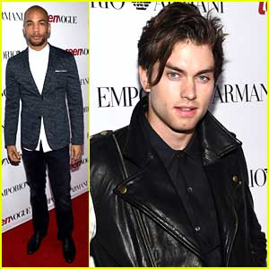 Kendrick Sampson & Pierson Fode Keep It Hot at Teen Vogue's Young Hollywood Party 2014