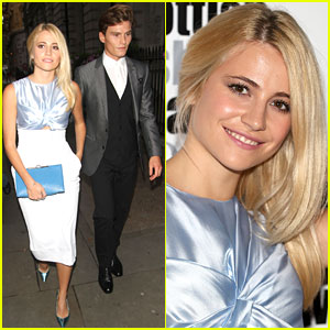 Pixie Lott & Oliver Cheshire Bring Their Romance to the Scottish Fashion Awards!