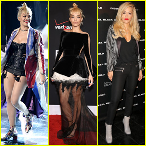 Rita Ora Commands the Stage During Fashion Rocks 2014 Performance