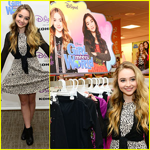 Sabrina Carpenter Reveals the Girl Meets World D-Signed Collection in Her Hometown!