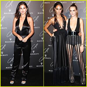 Selena Gomez & Cara Delevingne Rock Plunging Necklines at CR Fashion Book Launch