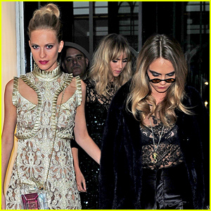 Suki Waterhouse & Cara Delevingne Hit the Town with Poppy in London!