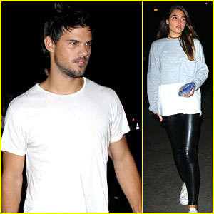 Taylor Lautner Brings a Friend to the Drake Concert