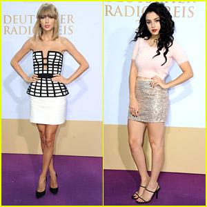 Taylor Swift & Charli XCX Step Out For Deutscher Radiopreis 2014 in Germany