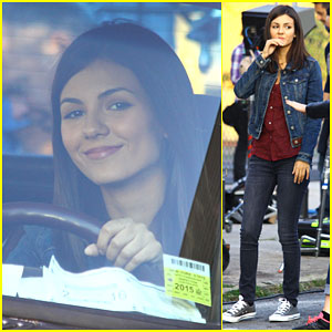 Victoria Justice is Happy to Be Behind the Wheel On 'Eye Candy' Set!