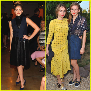 Willow Shields & Zoe Kazan Hit Up Peter Som & Honor For New York Fashion Week 2014