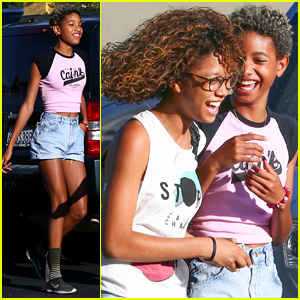 Willow Smith Can't Stop Laughing at Lunch