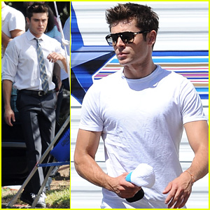 Zac Efron Switches into a Suit on 'We Are Your Friends' Set