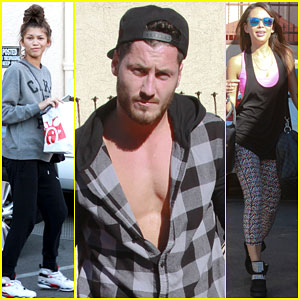 Zendaya & Janel Parrish Get Ready for Dancing with the Stars' Movie Night!