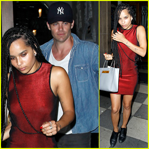 Zoe Kravitz Checks Out Coldplay with Chris Pine