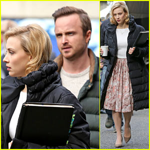 Sarah Gadon Is Joined By Aaron Paul on 'Louis Drax' Set
