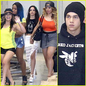 Fifth Harmony & Austin Mahone Arrive in Rio De Janeiro Together