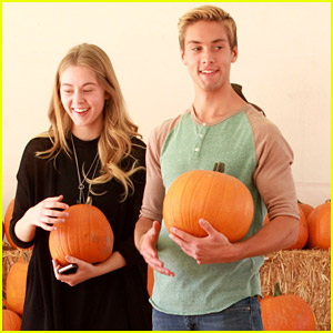 Austin North & Sister Lauren Pick Up Pumpkins