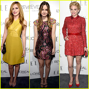 Bella Thorne & Liana Liberato Meet Up at Elle Women in Hollywood Celebration