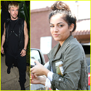Derek Hough Hits Up Halloween Party After Dancing With Bethany Mota