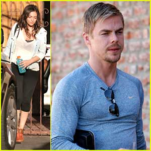 Bethany Mota & Derek Hough Get In One Last Practice Before Tonight's Show