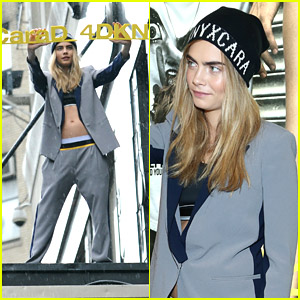 18e2ef76e300 Cara Delevingne Launches DKNY Collection On Top Of Bloomingdale s Marquee!