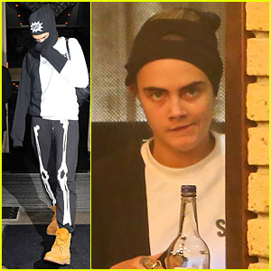 Cara Delevingne Tries to Go Unrecognizable Under Full Face Ski Mask