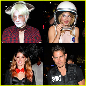 Chris Colfer & Emily Bett Rickards Rock Halloween with Their Amazing Costumes!
