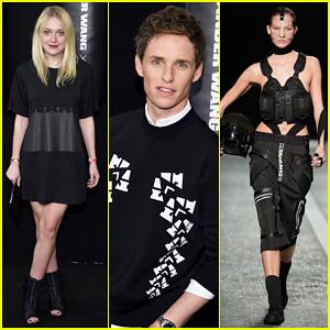 Dakota Fanning & Eddie Redmayne Watch Karlie Kloss Work The Runway at Alexander Wang X H&M Launch!