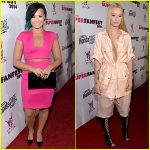 Demi Lovato Looks Perfect in Pink at Vevo Event!