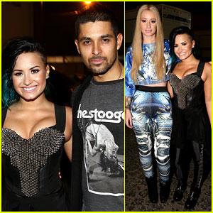 Demi Lovato's Boyfriend Wilmer Valderrama Shows Support at Vevo Concert!