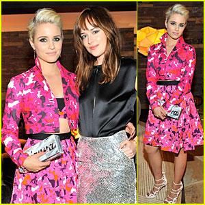 Dianna Agron & Dakota Johnson Hang Out at CFDA/Vogue Fashion Fund Dinner