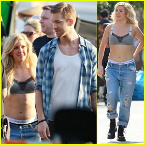 Ellie Goulding & Calvin Harris Get to Work on 'Outside' Music Video