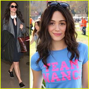 Emmy Rossum Shows Support for 'Team Nanci' at ALS Walk