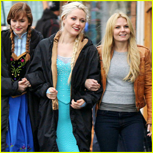 Georgina Haig Hangs With Elizabeth Lail & Jennifer Morrison On 'Once Upon A Time' Set