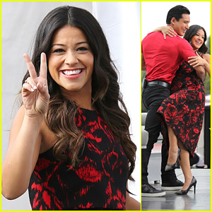 Gina Rodriguez Raps With Access Hollywood's Billy Bush & It's The Greatest Thing Ever