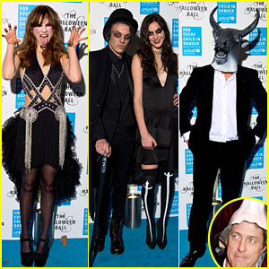 Suki Waterhouse & Jamie Campbell Bower Hit Up Haunted Halloween Gala