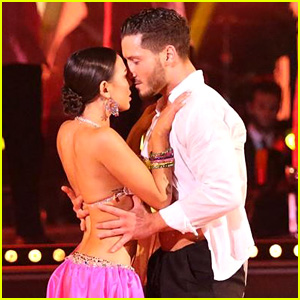 Janel Parrish & Val Chmerkovskiy Nearly Kiss During 'DWTS' Samba - See the Pics!