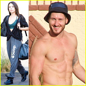 Val Chmerkovskiy Goes Shirtless & Wishes Janel Parrish Happy Birthday