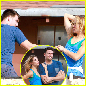 Jonathan Bennett & Allison Holker Take Their DWTS Practice To The Rooftop