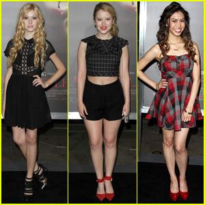 Katherine McNamara & Taylor Spreitler Get Dolled Up for 'Annabelle' Screening