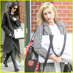 Kendall Jenner & Hailey Baldwin Enjoy the Fall By Picking Apples