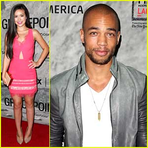 Kendrick Sampson & Madalyn Horcher Premiere 'Gracepoint' in Los Angeles