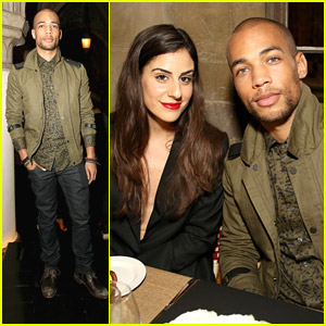 Gracepoint's Kendrick Sampson Dines Out With Designer Simon Spurr