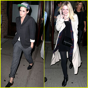 Kristen Stewart & Dakota Fanning Have a 'Twilight' Reunion in NYC!