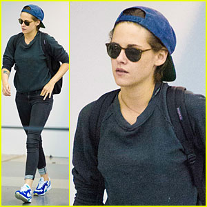 Kristen Stewart Lands In NYC Before 'Clouds of Sils Maria' Premiere