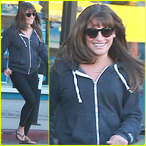 Lea Michele Gets to Her Car Before Tow Truck Does